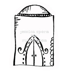 Build a Villa | Doodle Dome - JS5367G - Rubber Art Stamp