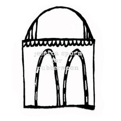 Build a Villa | Artsy Arches - JS5368G - Rubber Art Stamp