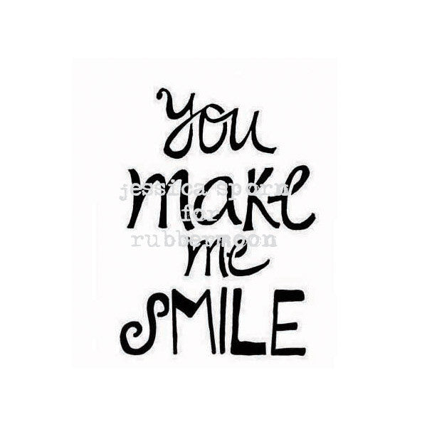 You Make Me Smile - JS5380E - Rubber Art Stamp