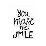 Jessica Sporn | JS5380E - You Make Me Smile - Rubber Art Stamp