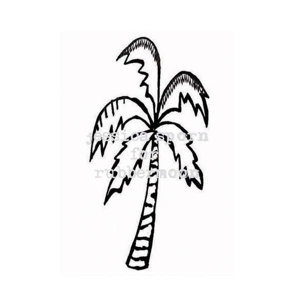 Build a Villa | Palm Tree - JS5382F - Rubber Art Stamp