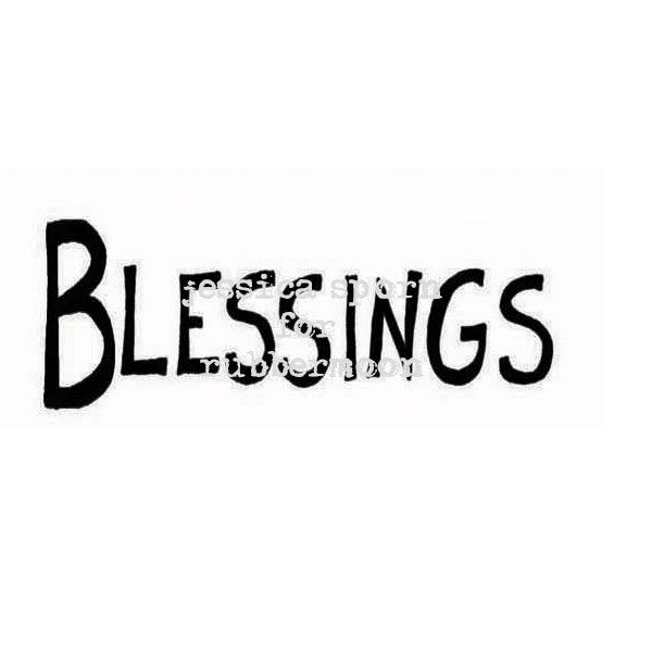 Jessica Sporn | JS5384E - Blessings - Rubber Art Stamp