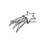Jessica Sporn | JS5439C - Shooting Star - Rubber Art Stamp