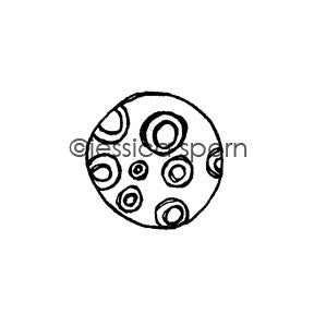 Jessica Sporn | JS5443D - Mecurial Mercury - Rubber Art Stamp