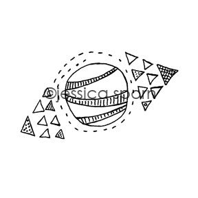 Jessica Sporn | JS5450G - Orbit - Rubber Art Stamp