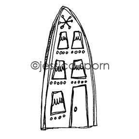 Build-A-Neighborhood | Artsy Apartment - JS5453H - Rubber Art Stamp