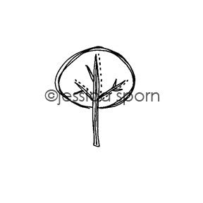 Jessica Sporn | JS5454D - Tree Lined - Rubber Art Stamp