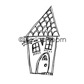 Build-A-Neighborhood | Perfect Place - JS5455H - Rubber Art Stamp