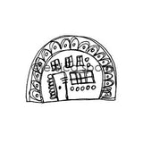 Build-A-Neighborhood |  Dome Home - JS5460G - Rubber Art Stamp