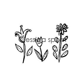 Jessica Sporn | JS5464F - Bloom - Rubber Art Stamp
