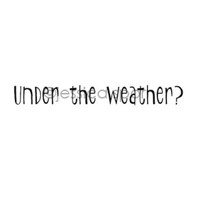 "Jessica Sporn | JS7067D - ""Under the Weather?"" - Rubber Art Stamp"