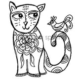 Jessica Sporn | JS7068H - A Tale of Two Friends - Rubber Art Stamp