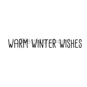 "Jessica Sporn | JS7079D - ""Warm Winter Wishes"" - Rubber Art Stamp"