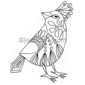 Jessica Sporn | JS7103I - Crafty Cockatiel - Rubber Art Stamp