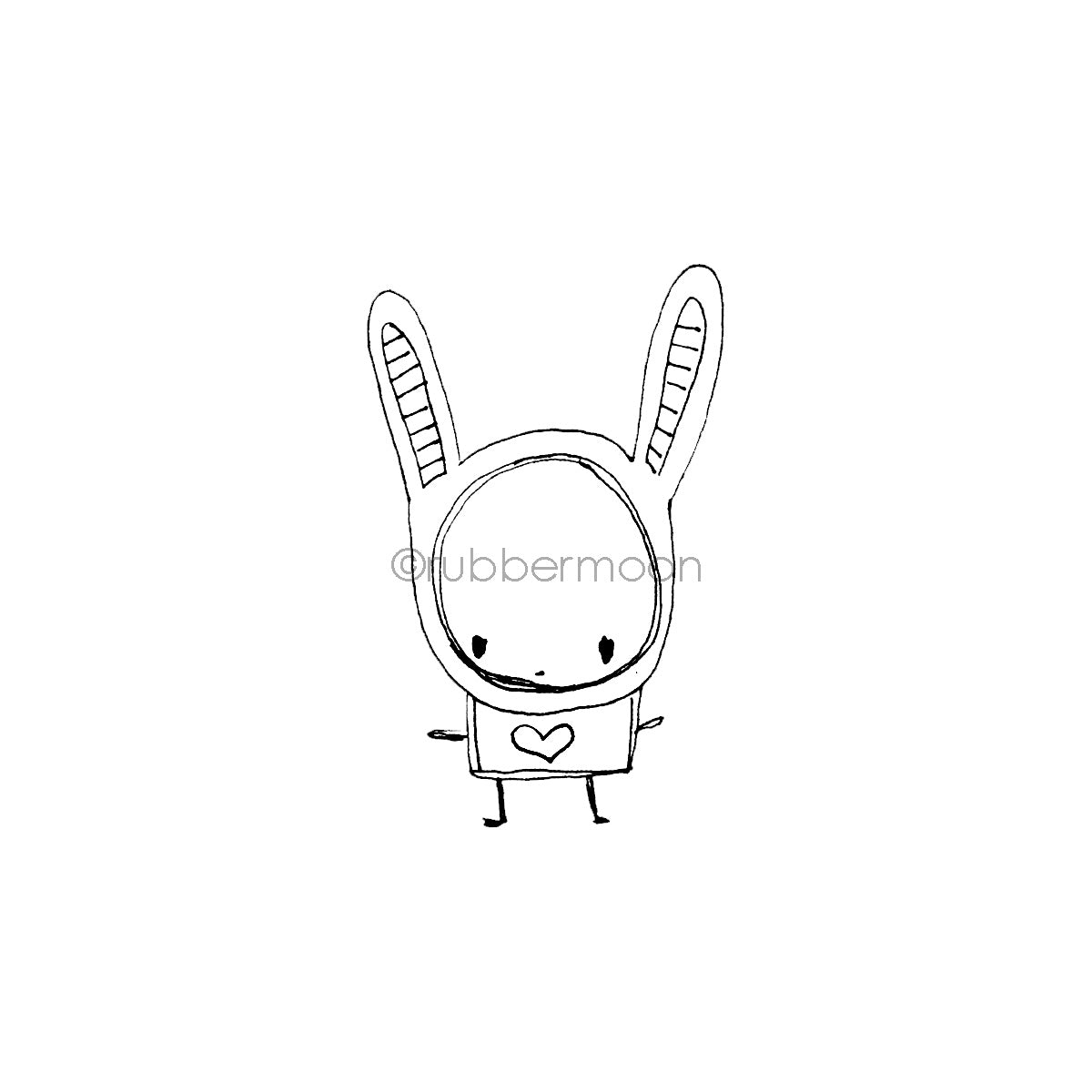 Kecia Deveney | KD11F - Bunny Misfit - Rubber Art Stamp