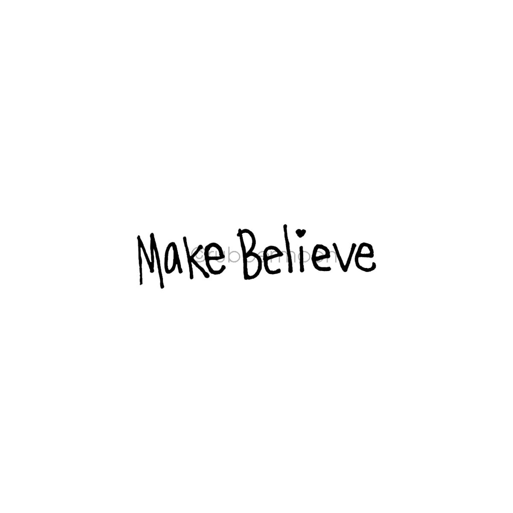 "Kecia Deveney | KD13D - ""Make Believe"" - Rubber Art Stamp"