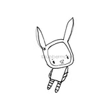 Kecia Deveney | KD14G - Bunny Misfit Too - Rubber Art Stamp
