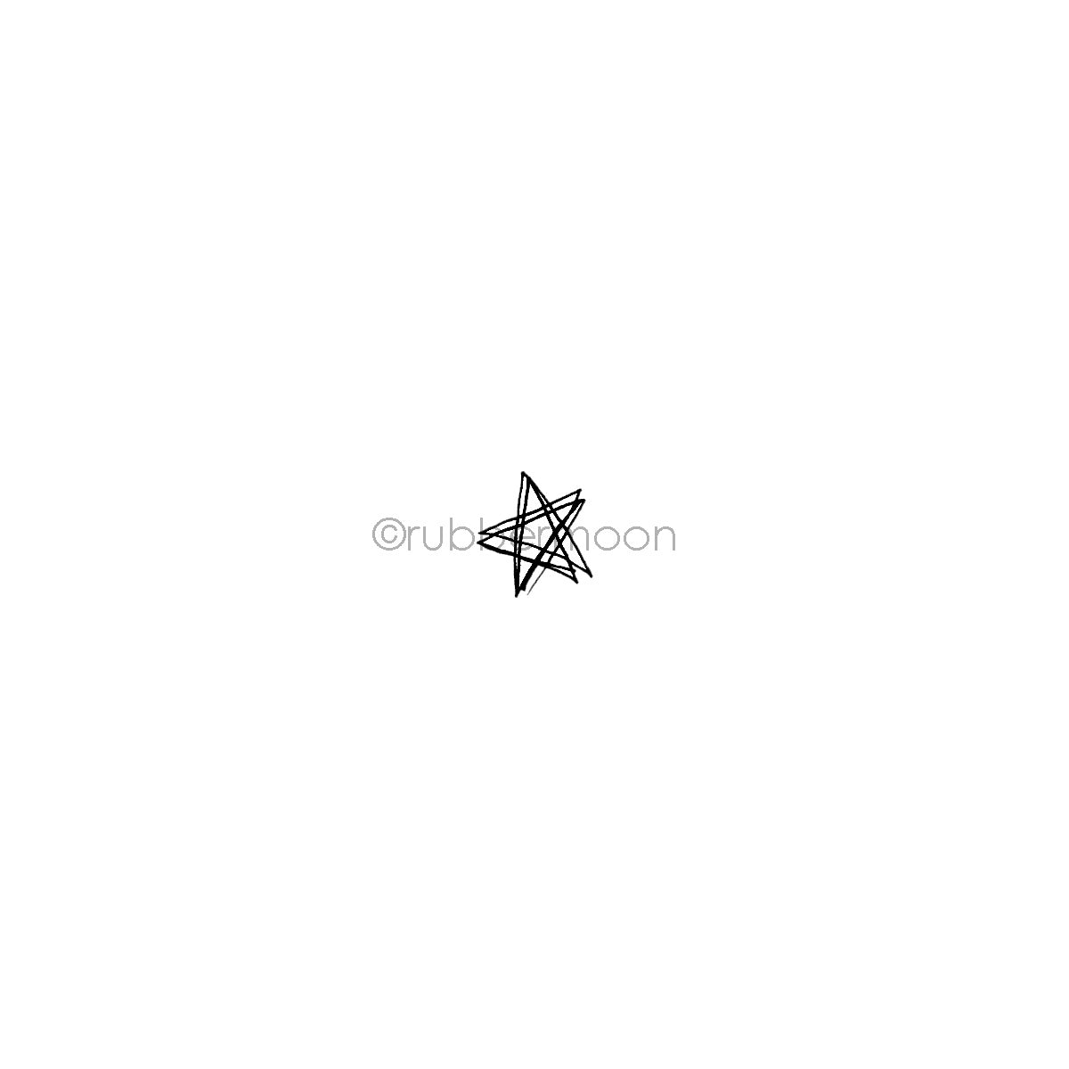 Kecia Deveney | KD15A - Sketchy Star - Rubber Art Stamp