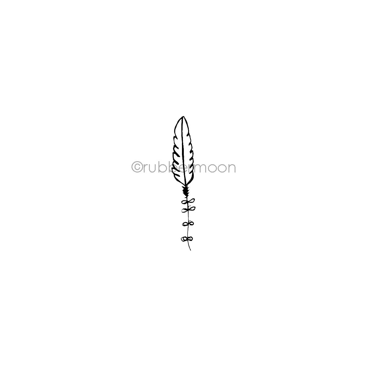 Kecia Deveney | KD08C - Feather - Rubber Art Stamp