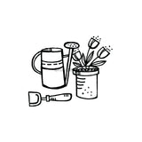 Kim Geiser | KG7405G - Garden Accessories - Rubber Art Stamp