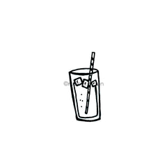 Kim Geiser | KG7408E - Cold Drink - Rubber Art Stamp