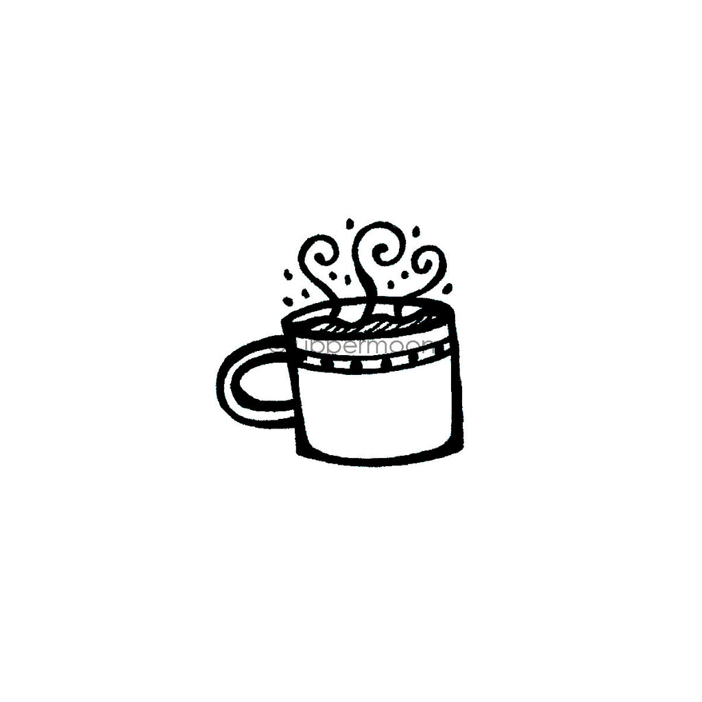 Kim Geiser | KG7410E - Cuppa Joe - Rubber Art Stamp