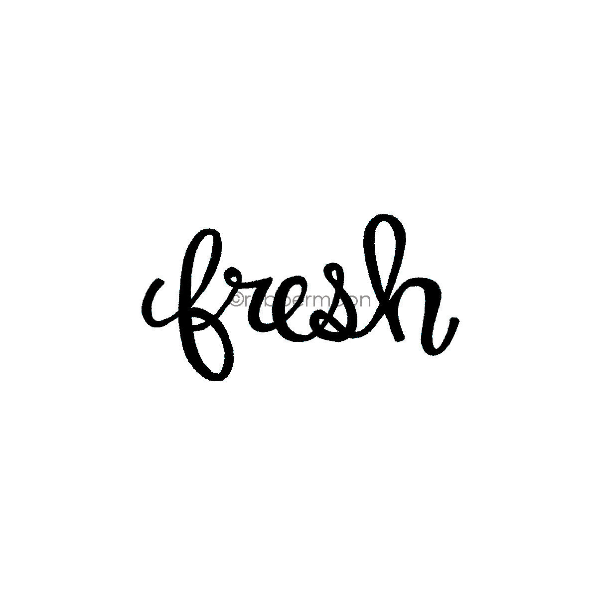 "Kim Geiser | KG7411F - ""Fresh"" - Rubber Art Stamp"