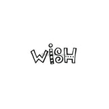 "Kim Geiser | KG7417E - ""Wish"" - Rubber Art Stamp"