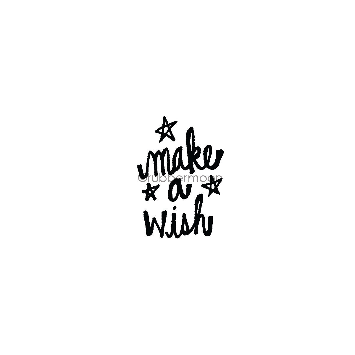 "Kim Geiser | KG7418D - ""Make a Wish"" - Rubber Art Stamp"