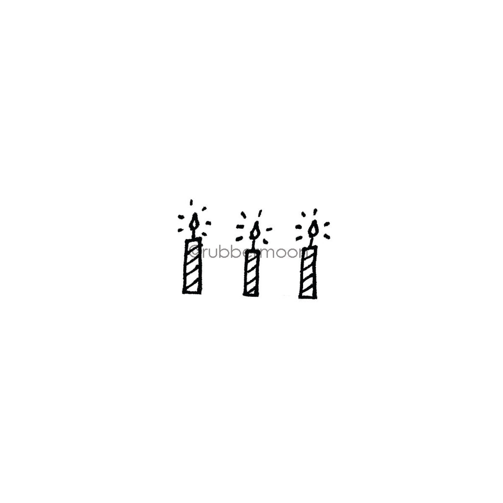 Kim Geiser | KG7422C - 3 Candles - Rubber Art Stamp