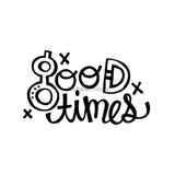 "Kim Geiser | KG7423H - ""Good Times"" - Rubber Art Stamp"