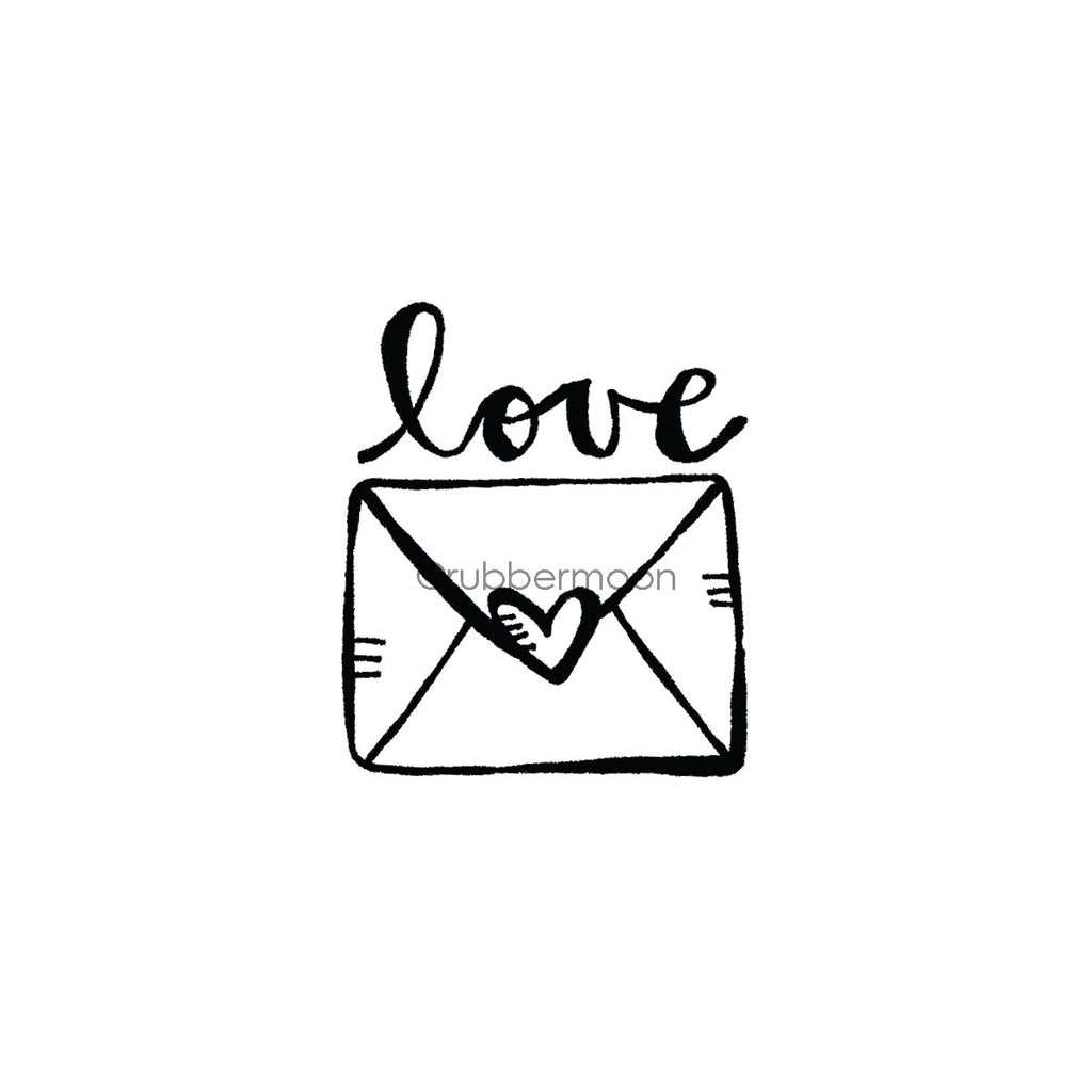 Kim Geiser | KG7430F - Love Letter - Rubber Art Stamp