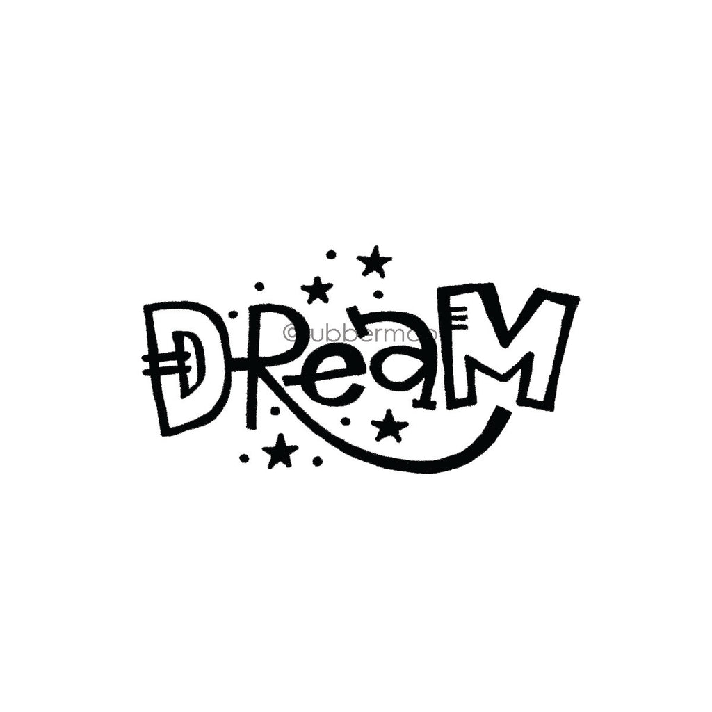 "Kim Geiser | KG7431F - ""Dream"" - Rubber Art Stamp"