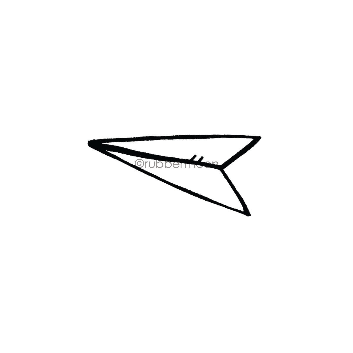 Kim Geiser | KG7432F - Paper Airplane - Rubber Art Stamp
