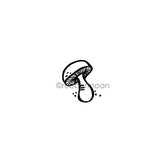 Kim Geiser | KG7452D - Single Shroom - Rubber Art Stamp
