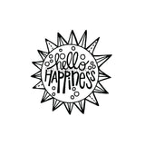 Kim Geiser | KG7464G - Hello Happiness - Rubber Art Stamp