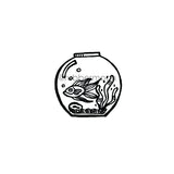 Kim Geiser | KG7467F - Life in a Fishbowl - Rubber Art Stamp