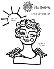 Kim Geiser | KGAL02 - Angel Lovelies Set - Rubber Art Stamps