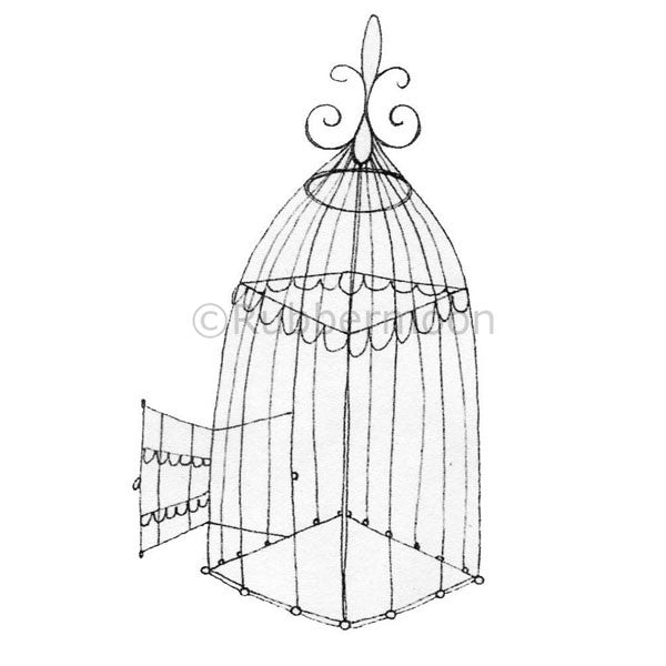 Cage Free - KP5008I - Rubber Art Stamp