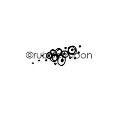 Kae Pea | KP5407C - Bubbles & Dots - Rubber Art Stamp