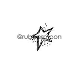Kae Pea | KP5427B - Starstract - Rubber Art Stamp