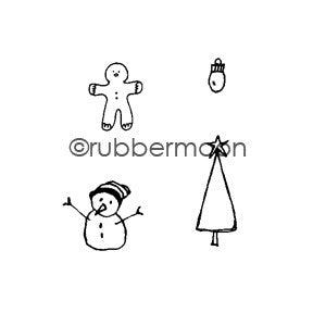 Holiday Yard Cube - KP5469G - Rubber Art Stamp