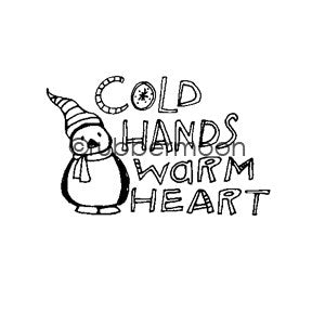 Cold Hands... - KP5473E - Rubber Art Stamp