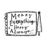 Kae Pea | KP5478G - Merry Everything - Rubber Art Stamp
