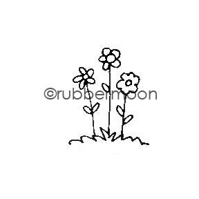 Kae Pea | KP5486AA - Bitty Blooms - Rubber Art Stamp