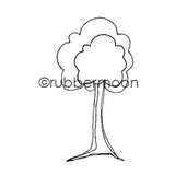 Kae Pea | KP5489E - Tiny Town Tree - Rubber Art Stamp