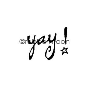 Kae Pea | KP5492A - Yay! - Rubber Art Stamp
