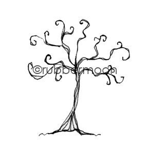 Kae Pea | KP5508E - Gnarly Little Tree - Rubber Art Stamp
