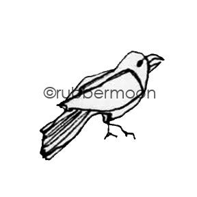 Kae Pea | KP5509AA - Tiny Crow - Rubber Art Stamp