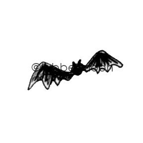 Kae Pea | KP5511AA - A Little Batty - Rubber Art Stamp